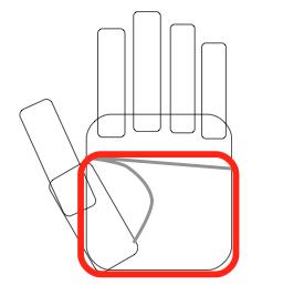 適量の肉や魚:指を曲げたときの手のひら分